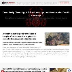 Decomposition Death Cleanup - 911hazmatcleanup