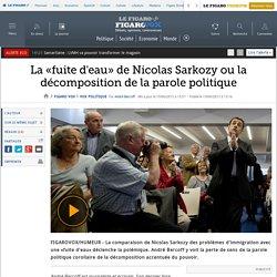 La «fuite d'eau» de Nicolas Sarkozy ou la décomposition de la parole politique