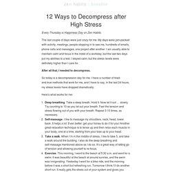 12 Ways to Decompress after High Stress