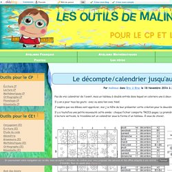 Le décompte/calendrier jusqu'aux vacances ! - Les outils de Malinous