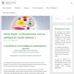 """Article """"L'impact du confinement sur les capacités d'inhibition"""" (d'O.Houdé)"""