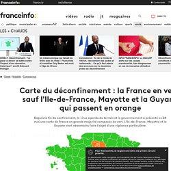 Carte du déconfinement : la France en vert, sauf l'Ile-de-France, Mayotte et la Guyane qui passent en orange
