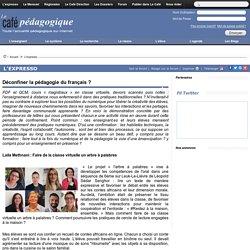 Déconfiner la pédagogie du français ?