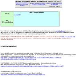 La décongélation - archives de la liste HYGIENE