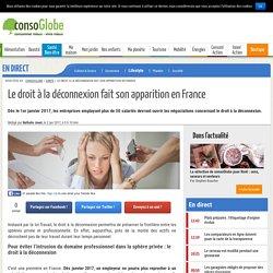 Le droit à la déconnexion fait son apparition en France