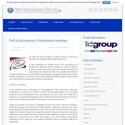 Droit à la déconnexion et transformation numérique