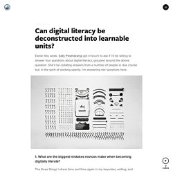 Can digital literacy be deconstructed into learnable units?