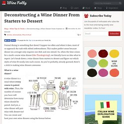 Deconstructing a Wine Dinner From Starters to Dessert
