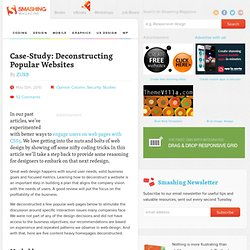 Case-Study: Deconstructing Popular Websites (Opinion Column) - Smashing Magazine