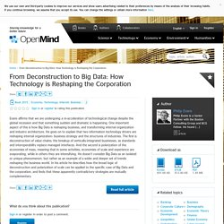 From Deconstruction to Big Data: How Technology is Reshaping the Corporation