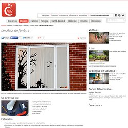Le décor de fenêtre - Articles - Projets brico