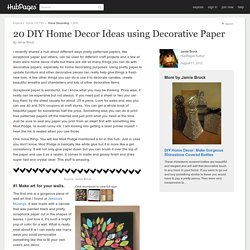 20 DIY Home Decor Ideas using Decorative Paper