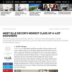 Meet Elle Decor's Newest Class Of A-List Designers