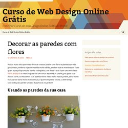 Decorar as paredes com flores