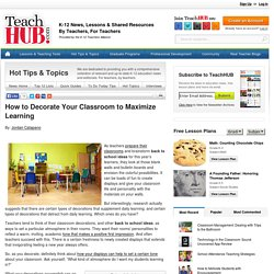 How to Decorate Your Classroom to Maximize Learning