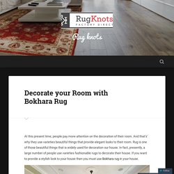 Decorate your Room with Bokhara Rug