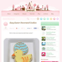 Easy Easter Decorated Cookies