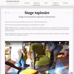 Formation tapissier décorateur, restauration - Philippe Pubellier