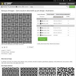 Sans Soudure Décoratifs Op Art Design. Illustration. Clip Art Libres De Droits , Vecteurs Et Illustration. Image 7750577.