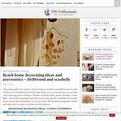 Beach home decorating ideas and accessories - Driftwood and seashells