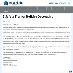 5 Safety Tips for Holiday Decorating - Beauchain Builders