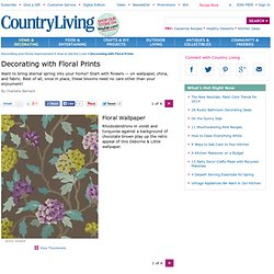 Floral Print Home Decorating Ideas - Decorate with Floral Prints