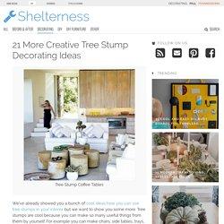 21 More Creative Tree Stump Decorating Ideas