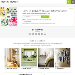 DIY Decorating: Shelving Projects - Martha Stewart