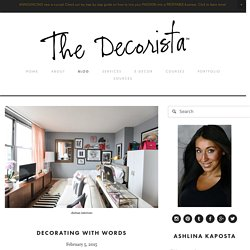 decorating with words — The Decorista