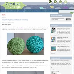 Decorating with Yarn Balls