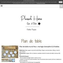 Plan de table - Pleasant Home Décoration et accessoires en bois de palette et toile de jute, accessoires femmes en toile de jute