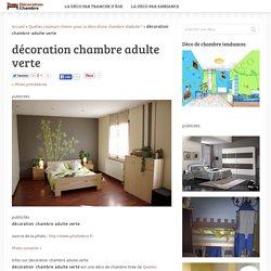 décoration chambre adulte verte