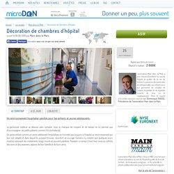 Main dans la Main - Décoration de chambres d'hôpital - microDON - Donner un peu, plus souvent