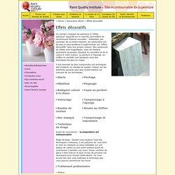 Effets de peinture, astuces de décoration, les dernières tendances en peinture et en teinte - Paint Quality Institute, France