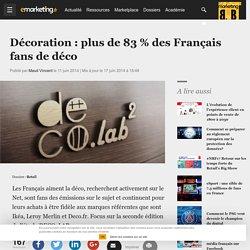Décoration : plus de 83 % des Français fans de déco - Retail