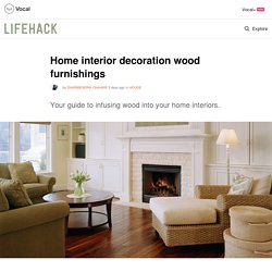 Home interior decoration wood furnishings