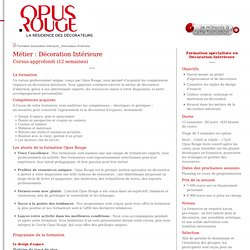 Formation decoration interieure Metier decorateur d'interieur Devenir decorateur Apprendre la deco d'interieur