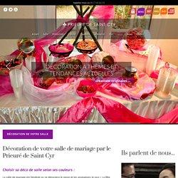 Décoration Salle Mariage : nous décorons votre salle de mariage dans le 77.