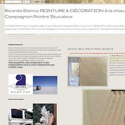 Ricardo Blanco PEINTURE & DÉCORATION à la chaux naturelle Artisan Compagnon Peintre Stucateur : version Stuc Pierre Salle de bains .
