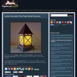 Lantern Decoration Free Paper Model Download
