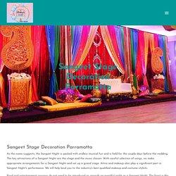 Sangeet Stage Decoration Parramatta