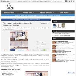 Décoration : réaliser la confection de rideaux faits maison