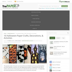 16 Halloween Paper Crafts, Decorations, & Activities