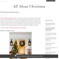 DIY Christmas Decoration For Christmas