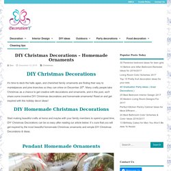 DIY Christmas Decorations - Homemade Ornaments - Decoration Y