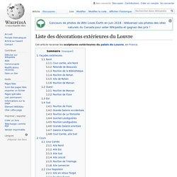 Liste des décorations extérieures du Louvre