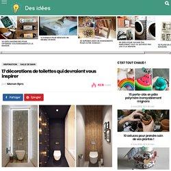 17 décorations de toilettes qui devraient vous inspirer