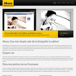 Akura Decoratiuni - Tablouri pe canvas - Despre Akura