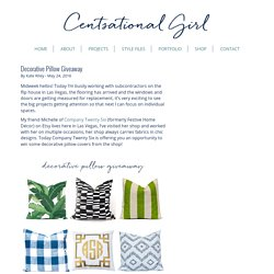 Decorative Pillow Giveaway