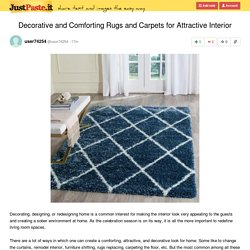 Decorative and Comforting Rugs and Carpets for Attractive Interior